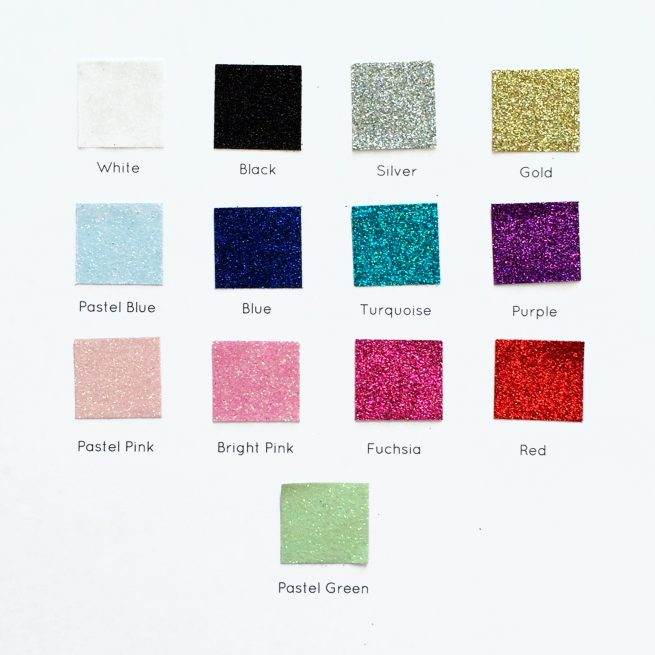 Personalised Glitter Colours from Altered Chic