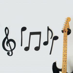 Musical Notes Wooden Wall Art