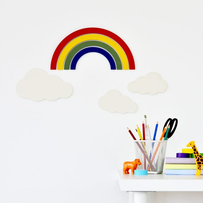 Rainbow Wooden Wall Art