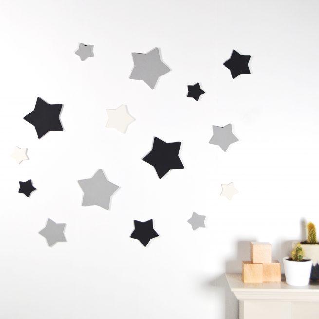 Black & White Stars Wall Art