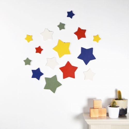 Rainbow Stars Wall Art